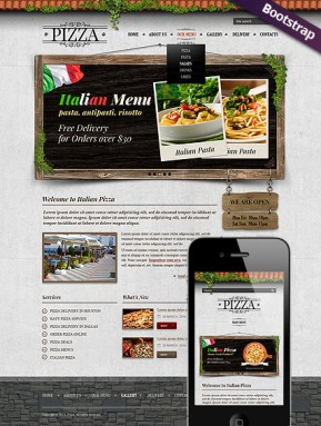 Pizza Bootstrap template ID: 300111733