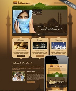 Islam Wordpress template ID: 300111734