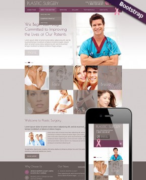 Plastic Surgery Bootstrap template ID: 300111735