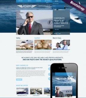 Private Airline Bootstrap template ID: 300111736