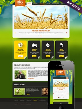Eco Agriculture Bootstrap template ID: 300111737