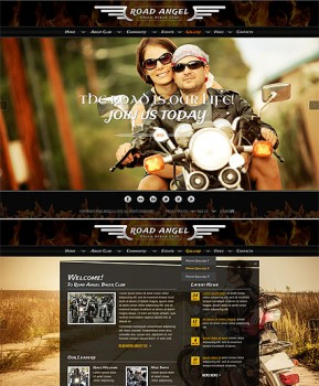 Biker Club HTML5 template ID: 300111738