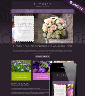 Florist Bootstrap template ID: 300111739