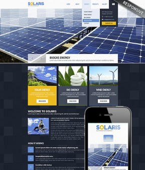 Solar Energy Wordpress template ID: 300111740