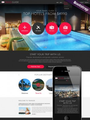 Travel Guide Bootstrap template ID: 300111741