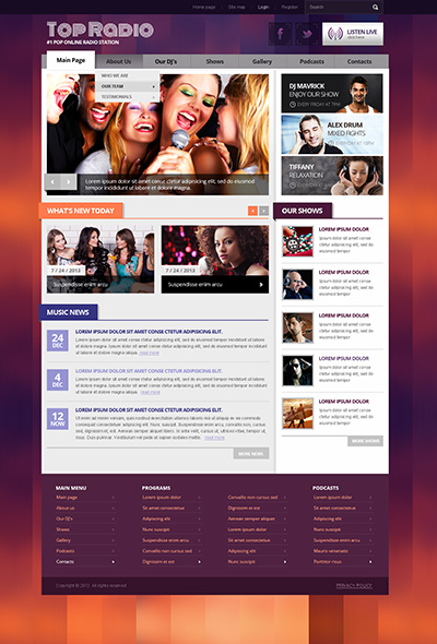 Top Radio v3 Joomla template ID: 300111745