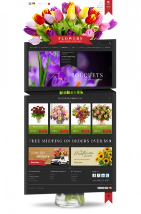 Flowers Shop OpenCart template ID: 300111751