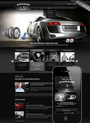 Car Repair Service Wordpress template ID: 300111752