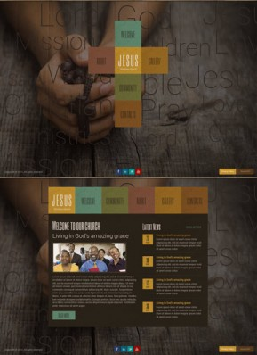 Christian Church HTML5 template ID: 300111754