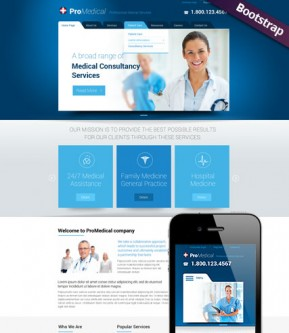 Medical Service Bootstrap template ID: 300111755