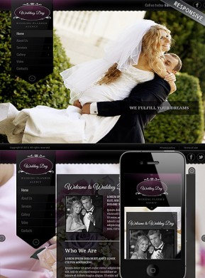 Wedding Planner Wordpress template ID: 300111760