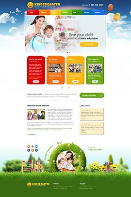 Kindergarten Wordpress template ID: 300111763