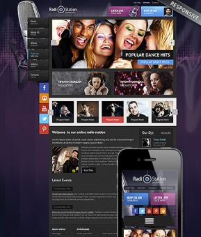 Radio Wordpress template ID: 300111771