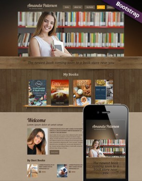 Book Writer Bootstrap template ID: 300111777