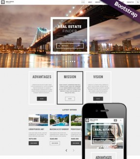Real Estate Bootstrap template ID: 300111782