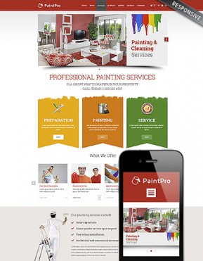 Painting co Wordpress template ID: 300111792