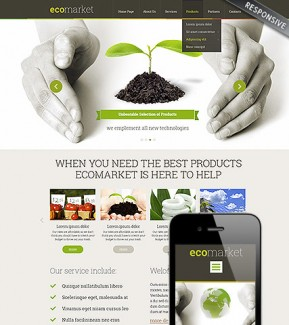 Ecology Products Wordpress template ID: 300111794