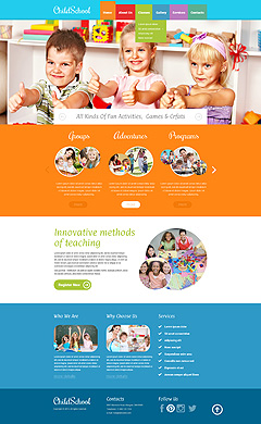Children School Bootstrap template ID: 300111795