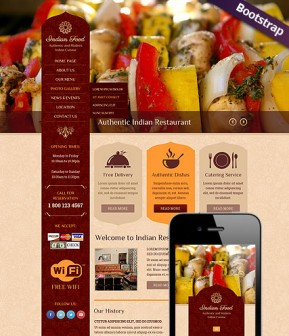 Indian Food Bootstrap template ID: 300111796