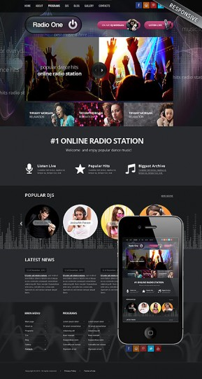 Radio One Wordpress template ID: 300111798