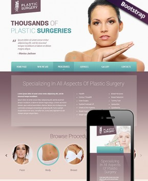 Plastic surgery Bootstrap template ID: 300111802
