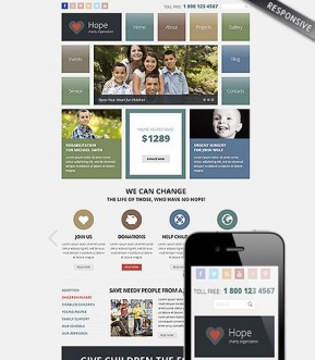 Charity Wordpress template ID: 300111808