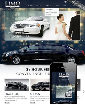 Limo Service Bootstrap template ID: 300111809