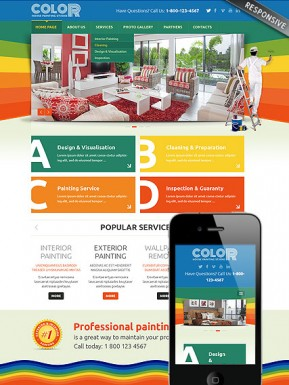 House painting Bootstrap template ID: 300111810