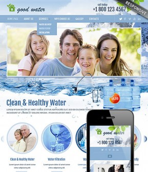 Good water Bootstrap template ID: 300111811