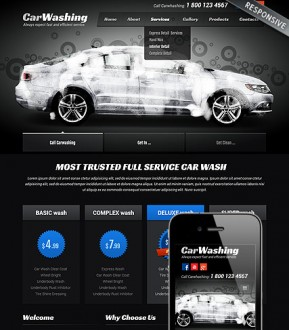 Car washing Bootstrap template ID: 300111812