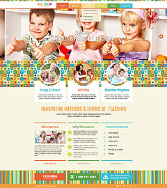 Kids studio Bootstrap template ID: 300111816