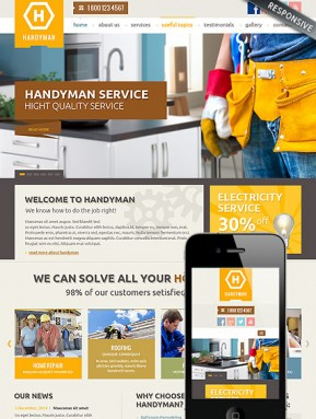 Handyman Service Bootstrap template ID: 300111818