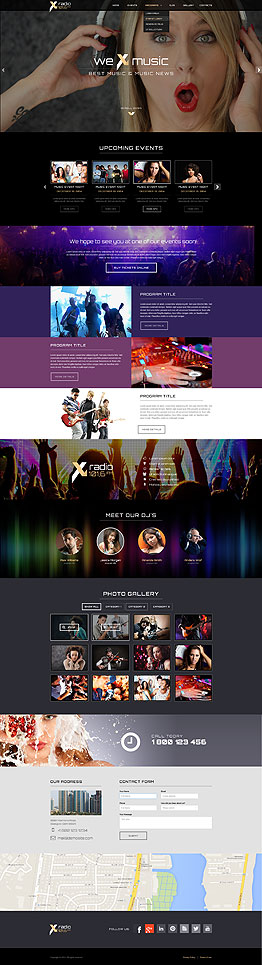 Radio Station Bootstrap template ID: 300111827
