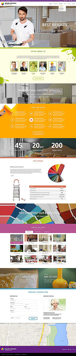 Paint co Bootstrap template ID: 300111836