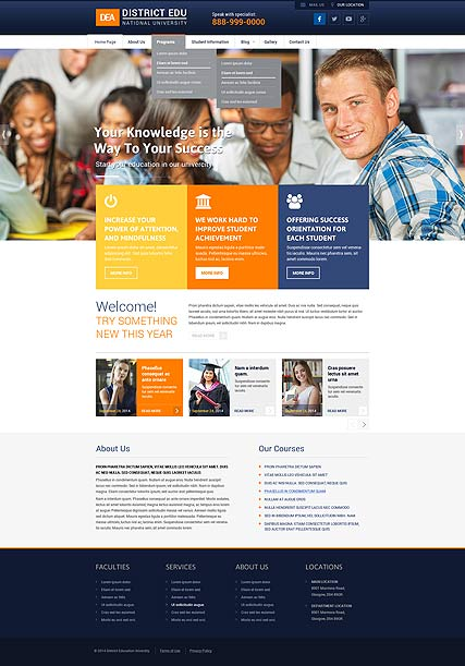 College Wordpress template ID: 300111837