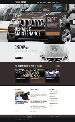 Car service Bootstrap template ID: 300111838