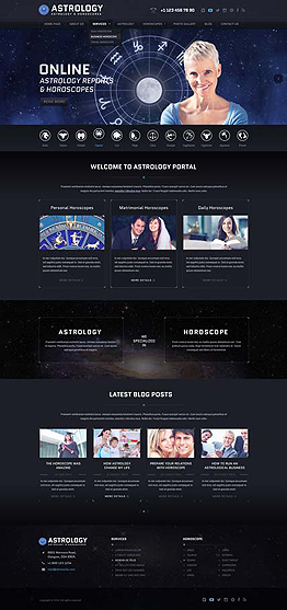Astrology Wordpress template ID: 300111843