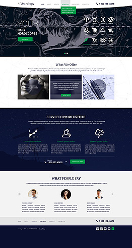 Astrology Bootstrap template ID: 300111844