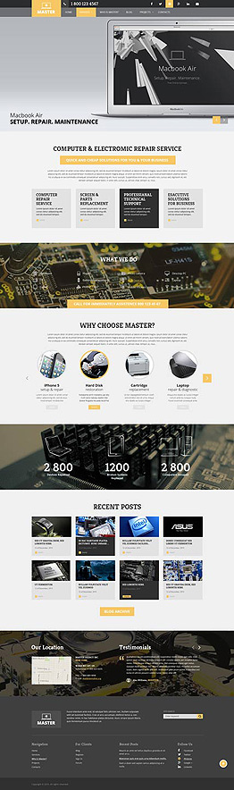Computer Repair Wordpress template ID: 300111845