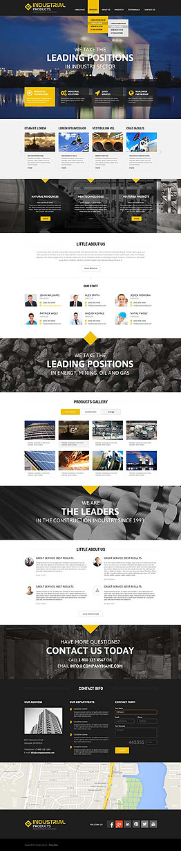 Industrial products Wordpress template ID: 300111849