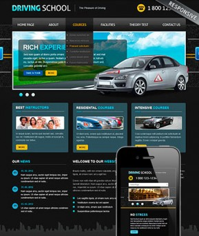 Driving School v3 Joomla template ID: 300111851