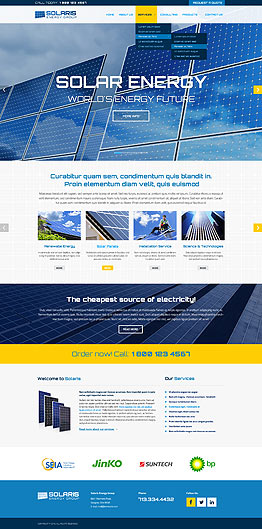 Solar energy Bootstrap template ID: 300111856