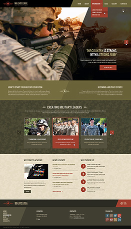 Military Wordpress template ID: 300111857