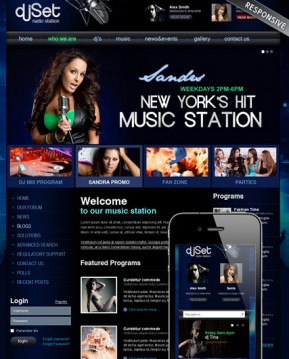 Radio Station v3 Joomla template ID: 300111859