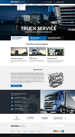 Truck service Bootstrap template ID: 300111862