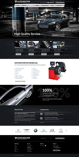 Car repair service Wordpress template ID: 300111863