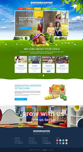 Kindergarten Templates, Website Templates From Www.Bootstrap