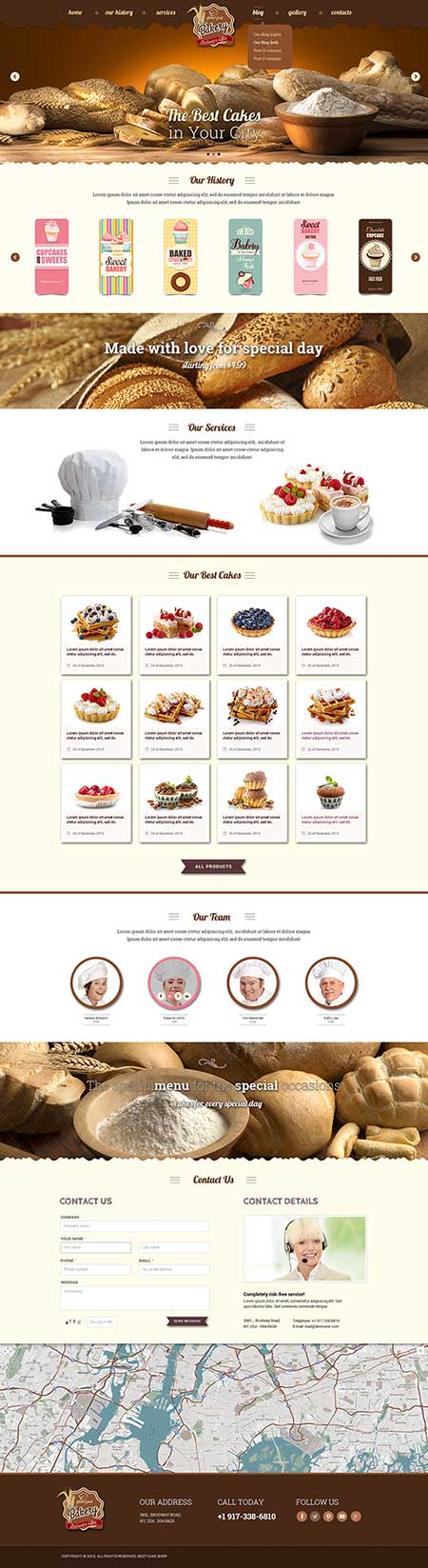 Bakery Bootstrap template ID: 300111885