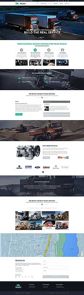 Truck Bootstrap template ID: 300111891