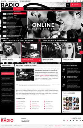BW Radio Wordpress template ID: 300111892